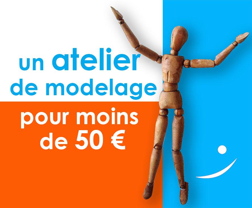 Un atelier de modelage, pour moins de 50 euros