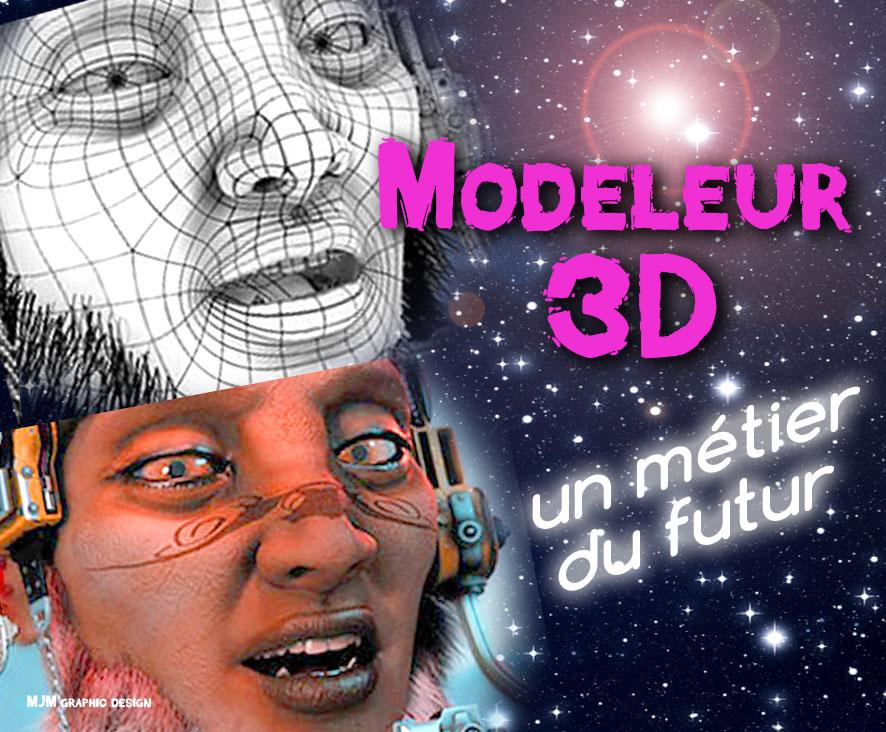 Modeleur 3D, un métier du futur