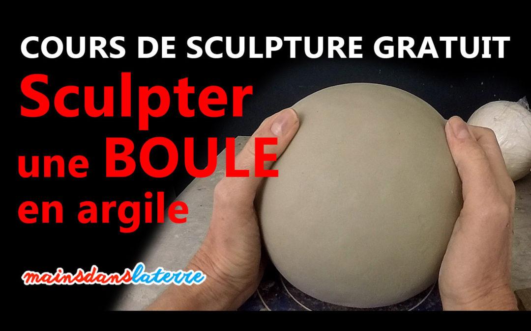 Toutes les étapes pour sculpter une boule en argile